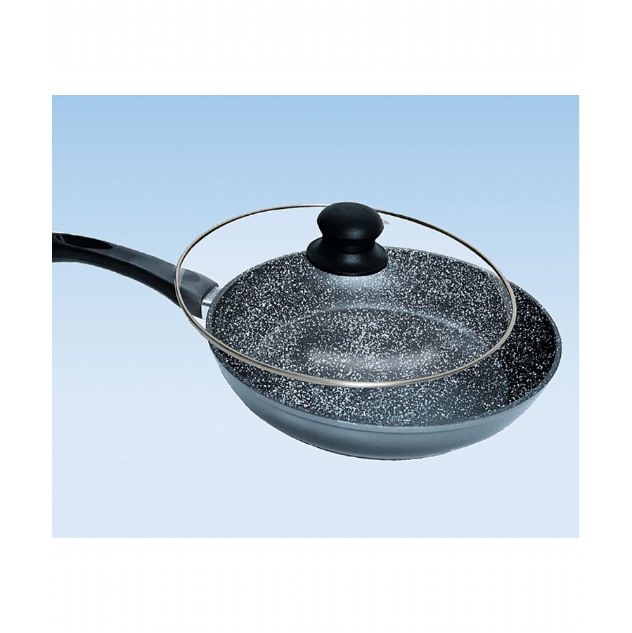 stonewell hard stone non stick frying pan with glass lid. Black Bedroom Furniture Sets. Home Design Ideas
