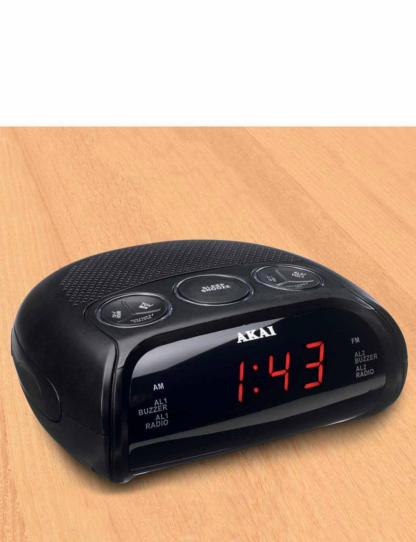 akai am fm led alarm clock radio ebay. Black Bedroom Furniture Sets. Home Design Ideas