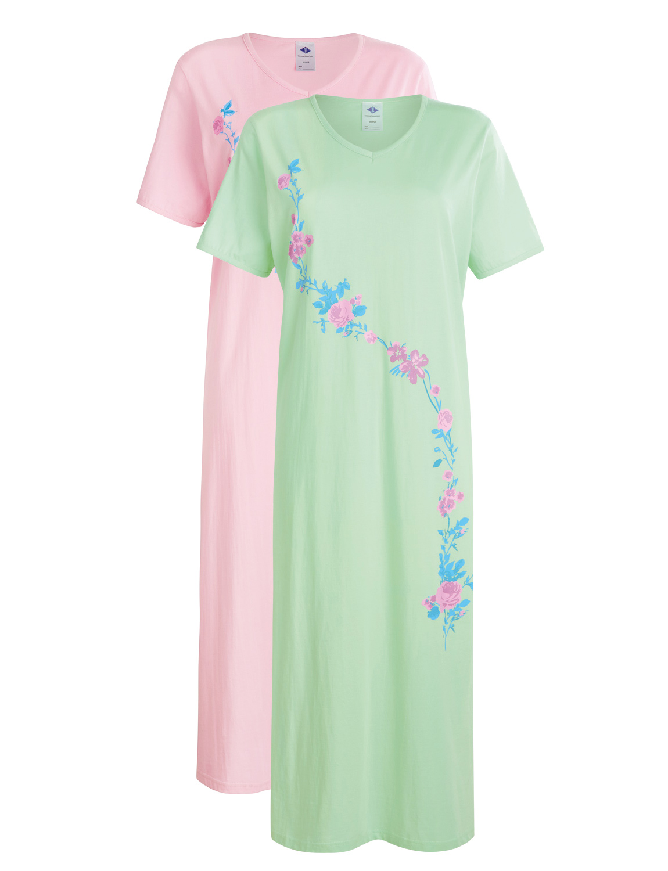 Ladies Cotton Nighties Pack Of 2  Nightdresses