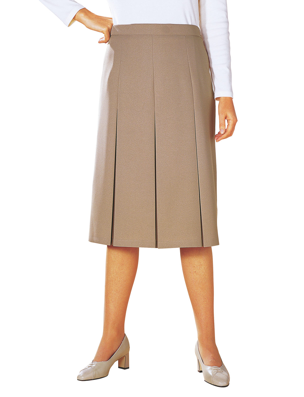 inverted pleat skirt 27 inches
