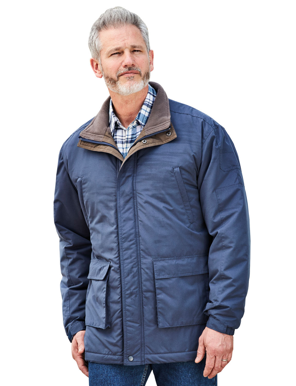Mens Pegasus Half Fleece Lined Car Coat | eBay