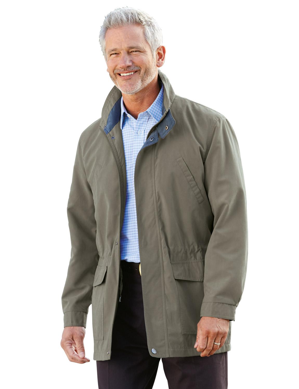 Mens   Length Leather Car Coat