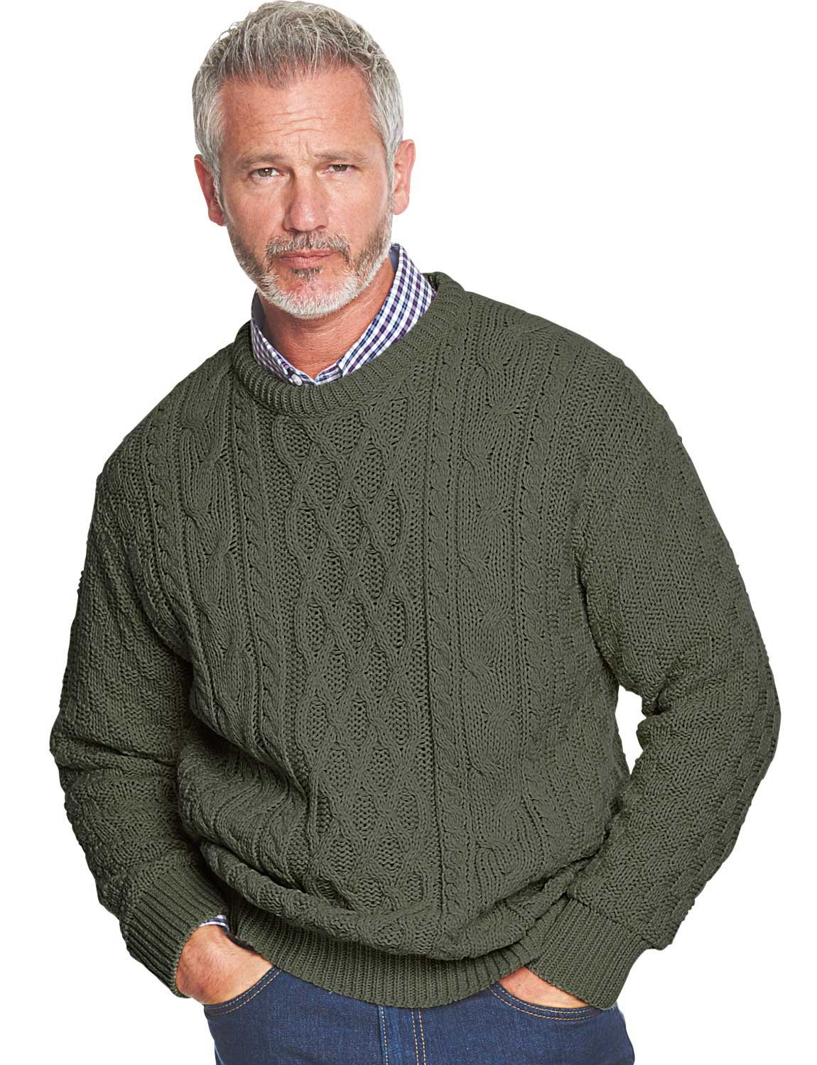 Fisherman Sweaters. Our range of men's aran sweaters offer style, comfort and class. At The Sweater Shop, we have a unique selection of % Irish wool products, from crew neck and v-neck sweaters to men's fisherman's sweaters, aran cardigans and grandfather shirts.