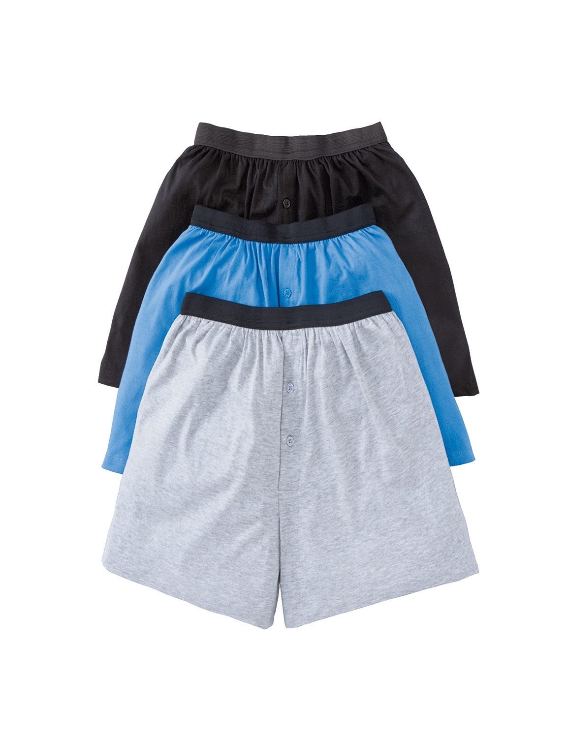 Choose stretch knit boxers or classic fit boxers in solid colors or patterns like stripes, plaid, American flag, camo, and superhero themes. When it comes to boys' knit boxers, you can shop brands that include Gap Kids, Puma, Fruit of the Loom, Calvin Klein, IZOD, Arizona, and Aeropostale.