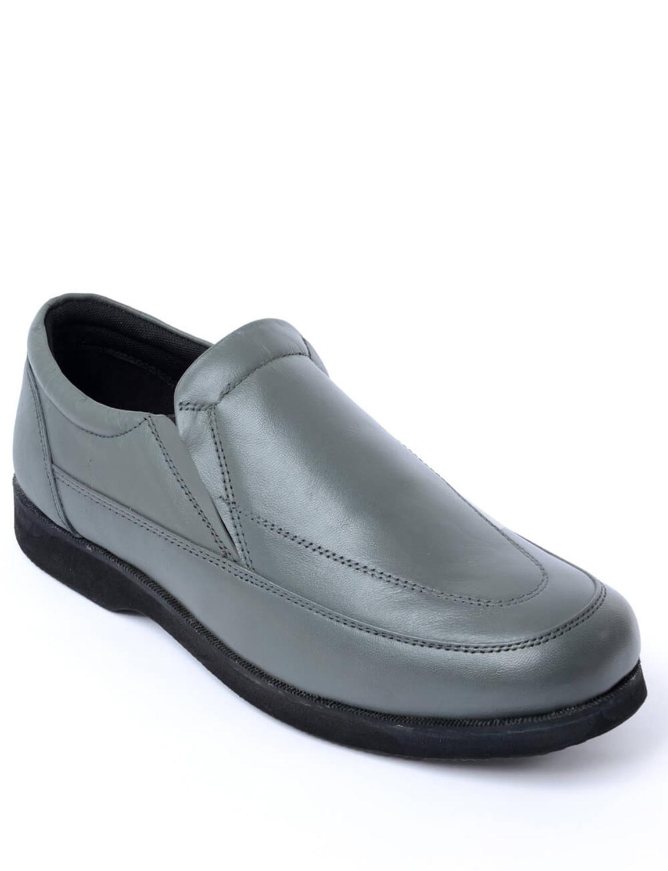 mens cambridge leather slip on shoe ebay