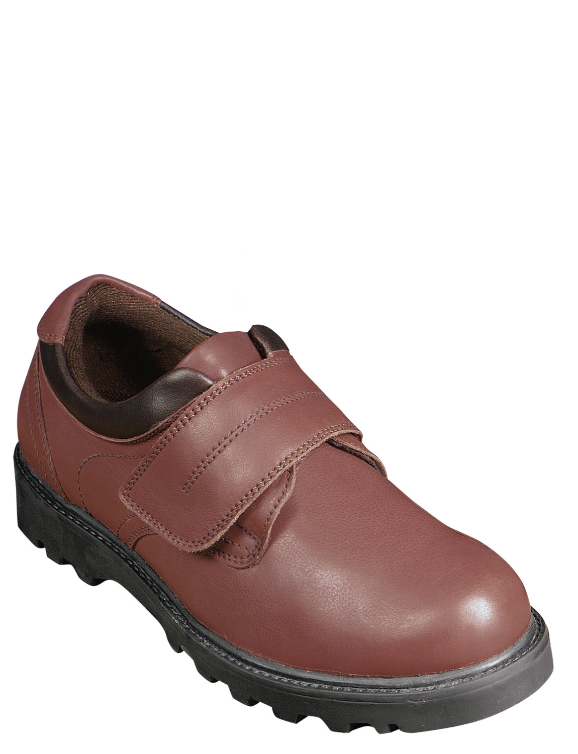 mens real leather touch fastening walking shoe ebay