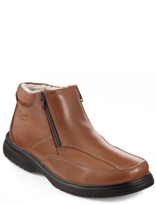 mens fur lined zip boot