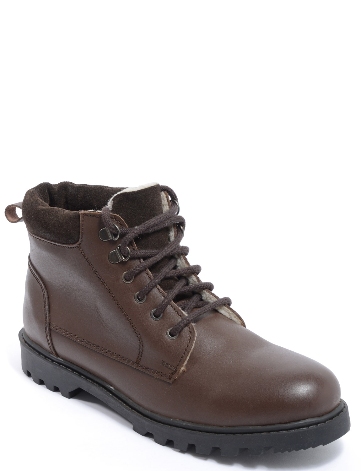 mens fleece lined leather boots ebay