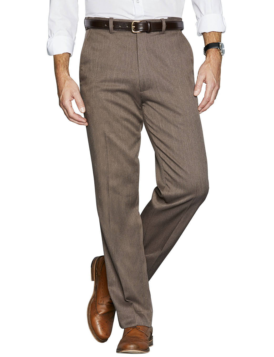 Mens High Waisted Lined Formal Trousers | EBay