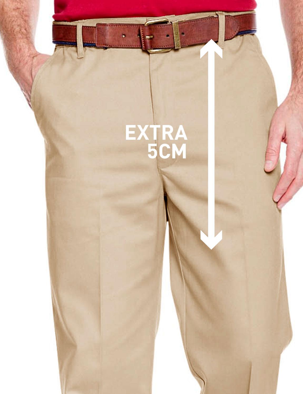 Mens HIGH-RISE Teflon Coated Trouser Side Elastic Stretch Pants