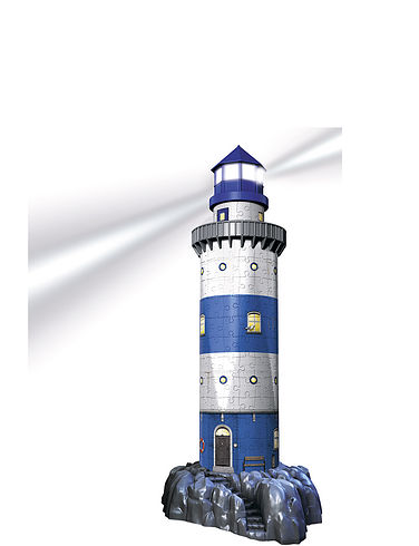 3D Puzzles- Light-Up Lighthouse