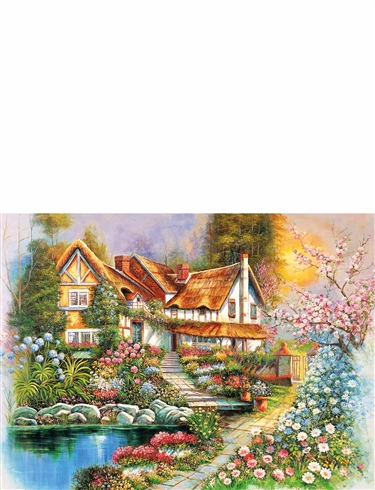 Country Cottages 500Pc Jigsaw Set Of 4