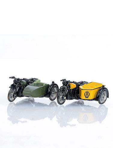 The British Army Motorcycle & Side Car