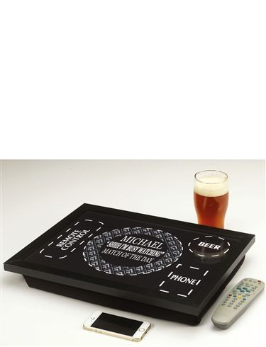 Beer and Remote Control TV Lap Tray