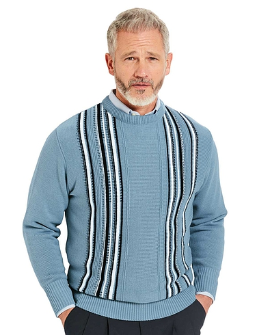 Woodville Jacquard Crew Neck Sweater