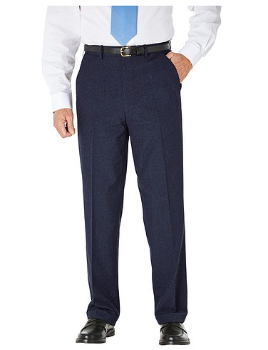 High Rise Teflon Coated Smart Trouser