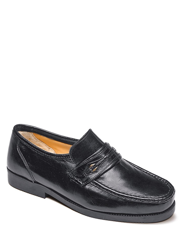 Wide Fit Leder Slip Slip Leder On Schuhe d1a7a6