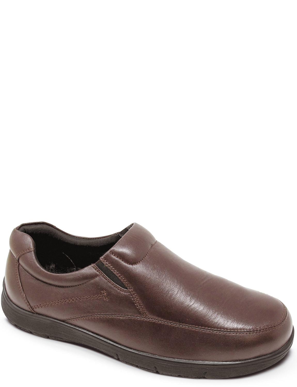 Leder Wide Fit Slip Slip Fit On Schuhe 97db63