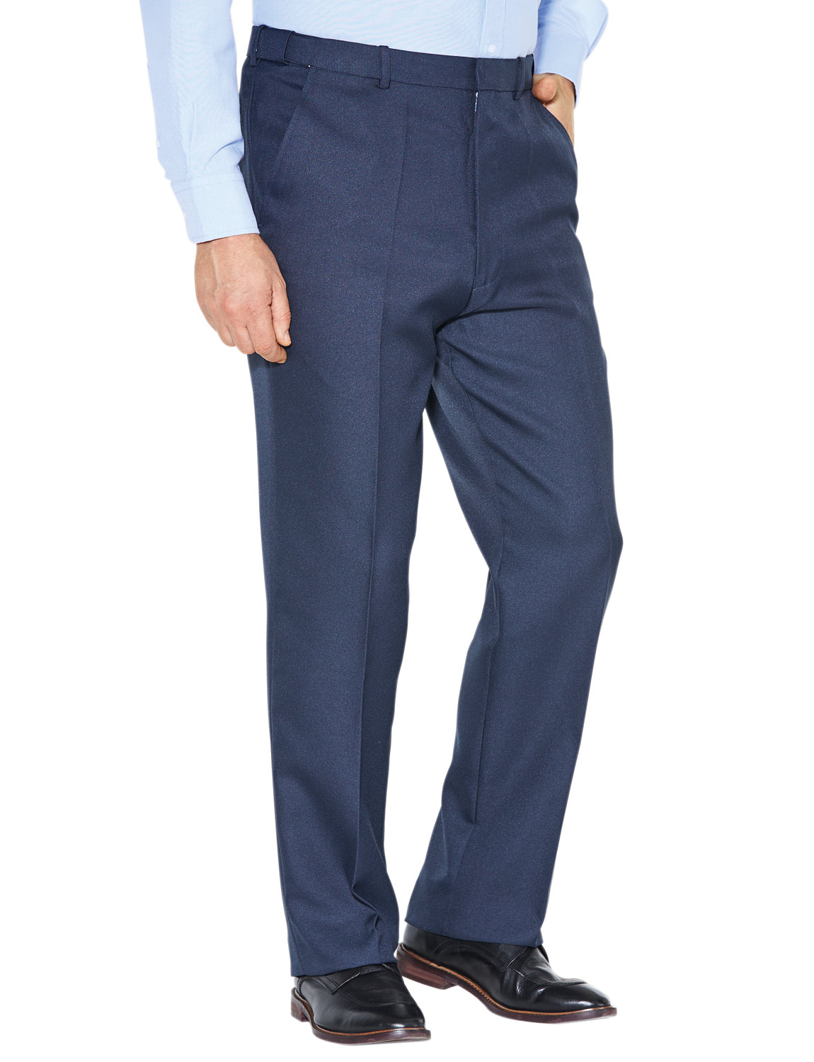 Mens-Stretch-Waist-Formal-Smart-Work-Trouser-Pants thumbnail 16