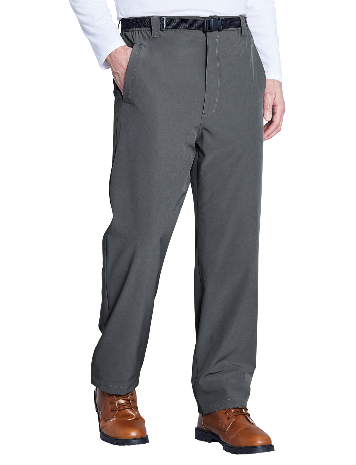Resistente-all-039-acqua-Anti-pillola-Foderato-in-Pile-2-WAY-STRETCH-PANTALONI