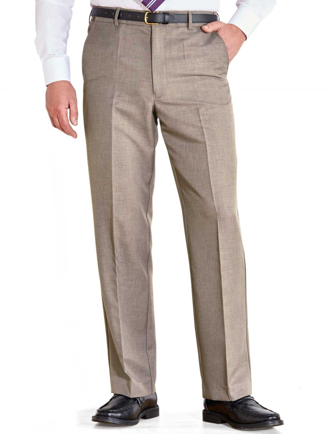 Mens-Farah-Flex-Trouser-Pants-With-Self-Adjusting-Waistband thumbnail 2