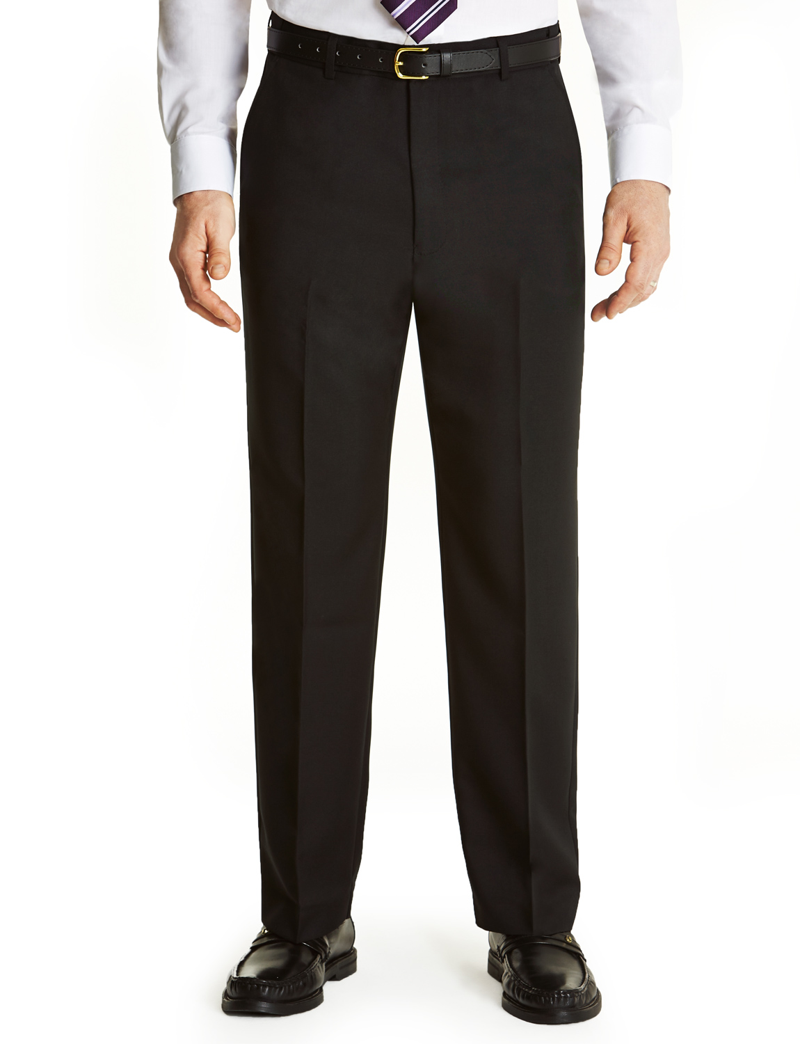 Mens-Farah-Flex-Trouser-Pants-With-Self-Adjusting-Waistband thumbnail 3
