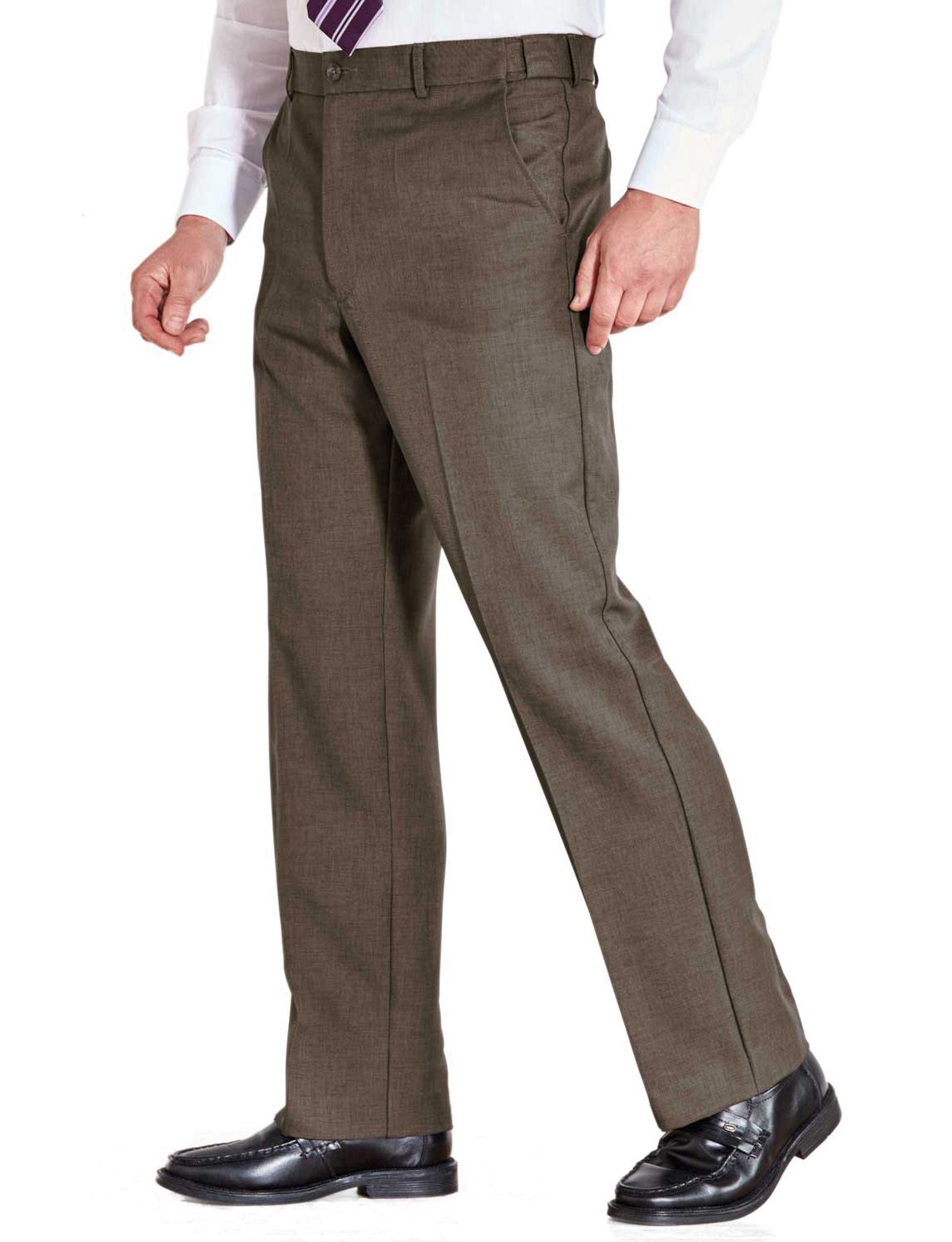 Mens-Farah-Flex-Trouser-Pants-With-Self-Adjusting-Waistband thumbnail 6