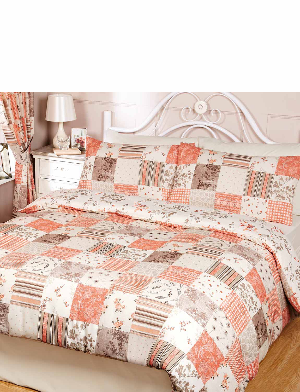 set polyester cover dp co patchwork duvet king elsa cotton home pink kitchen uk rapport amazon